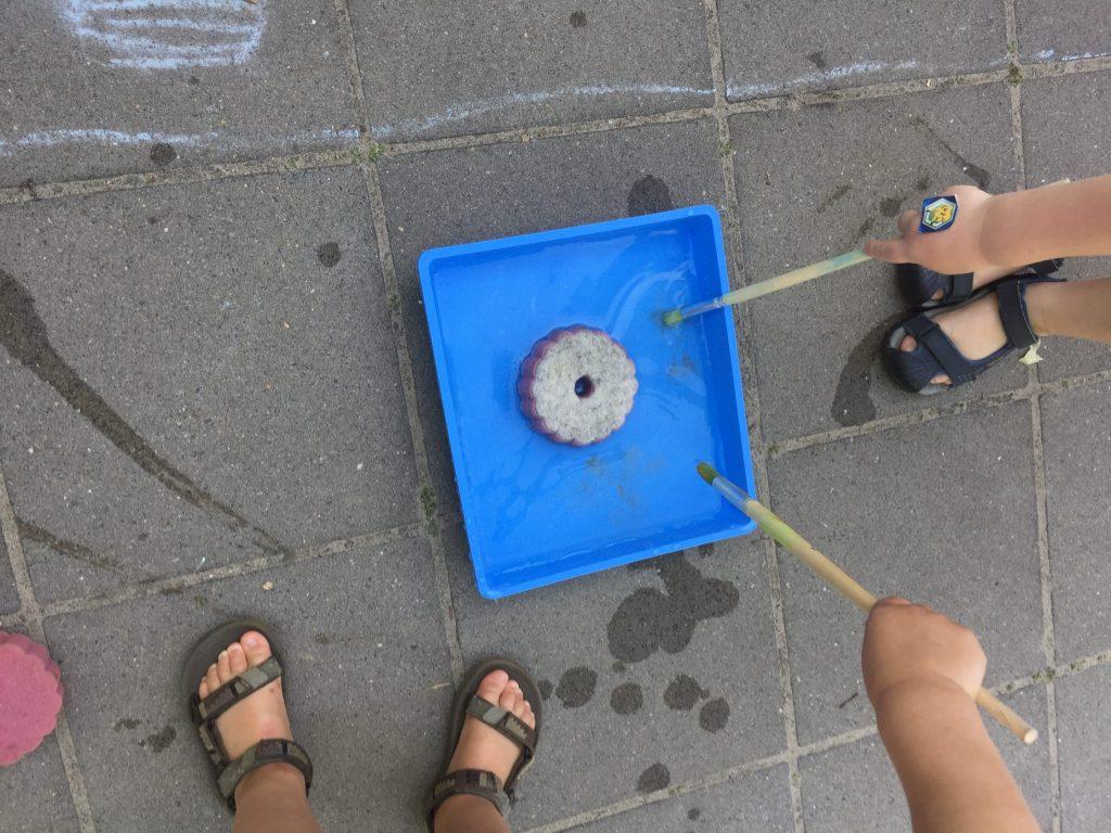 thuis leren - verven met water